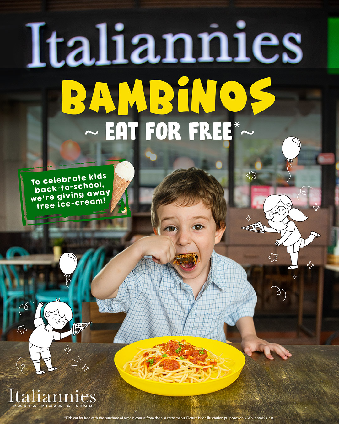Bambinos Eat for Free